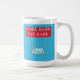 "HP5087 ""Harold's Planet"" ""Work Hard"" ""Nap Hard"" Coffee Mug"