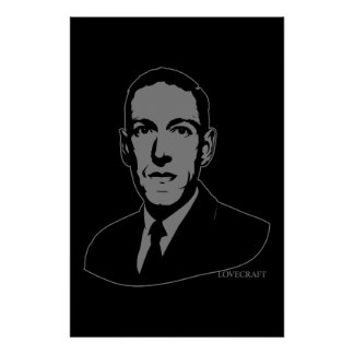 HP Lovecraft Portrait Poster