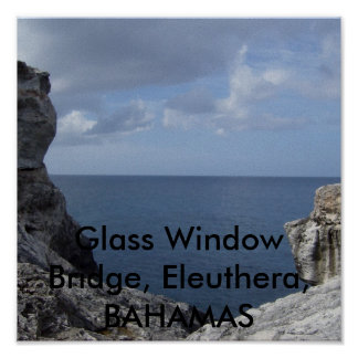 HPIM1421, Glass Window Bridge, Eleuthera, BAHAMAS Poster
