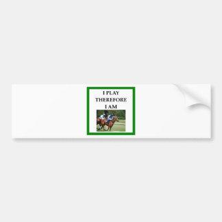 hprse racing bumper sticker