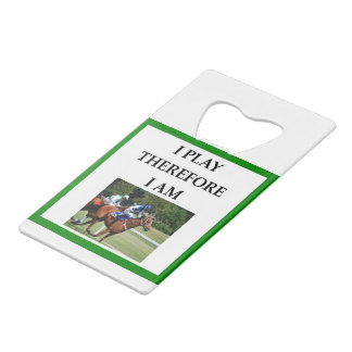 hprse racing credit card bottle opener