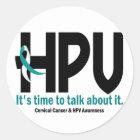 HPV Awareness 1 Classic Round Sticker