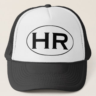 HR Hampton Roads Black and White Oval Logo Trucker Hat