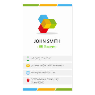 HR Manager - Colorful with QR Code Pack Of Standard Business Cards