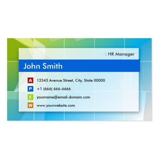 HR Manager - Modern Multipurpose Business Cards