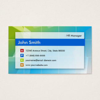HR Manager - Modern Multipurpose Business Card