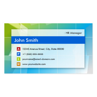 HR Manager - Modern Multipurpose Pack Of Standard Business Cards