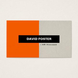 HR Manager - Simple Elegant Stylish Business Card