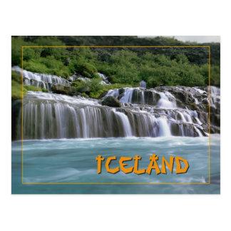 Hraunfossar Iceland Postcard