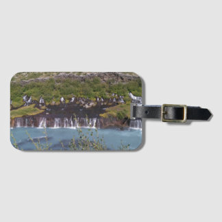 Hraunfossar waterfall in Iceland luggage tag