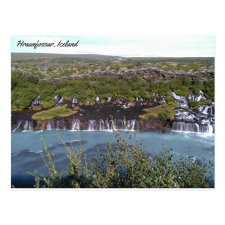 Hraunfossar waterfall in Iceland Postcard