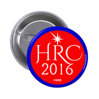 HRC, Hillary Rodham Clinton 2016 2 Inch Round Button