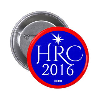 HRC, Hillary Rodham Clinton 2016 Democratic Party 2 Inch Round Button