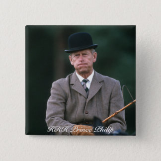 HRH Prince Philip Windsor 1980 2 Inch Square Button