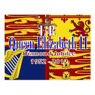 HRH Queen Elizabeth Diamond Jubilee postcard