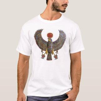 Hru Falcon Pendant - white t-shirt