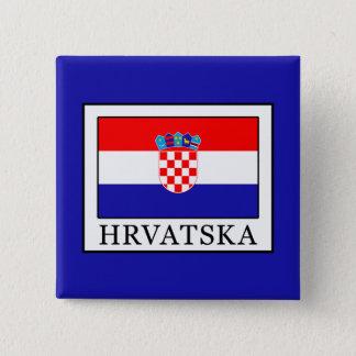 Hrvatska 2 Inch Square Button
