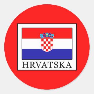 Hrvatska Classic Round Sticker