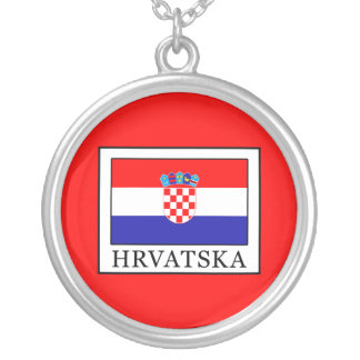 Hrvatska Silver Plated Necklace