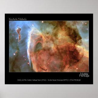 HST Keyhole Nebula Poster