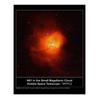 HST N81 in the Small Magellanic Cloud Poster