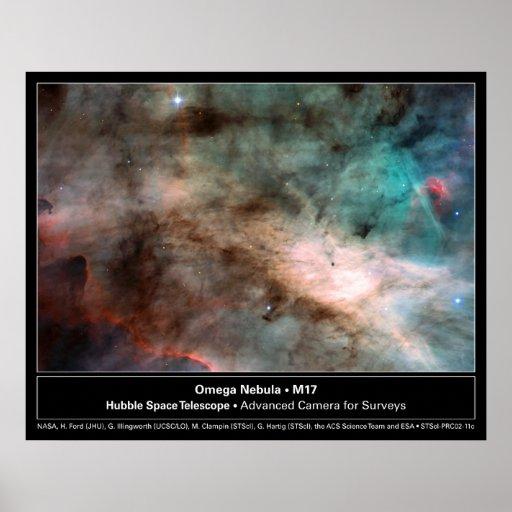 HST Omega Nebula M17 Poster