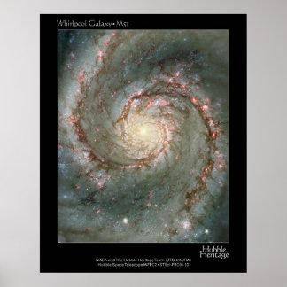 HST Whirlpool Galaxy M51 Poster