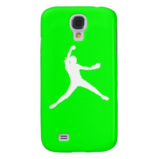 HTC Vivid Fastpitch Silhouette White/Green HTC Vivid / Raider 4G Case