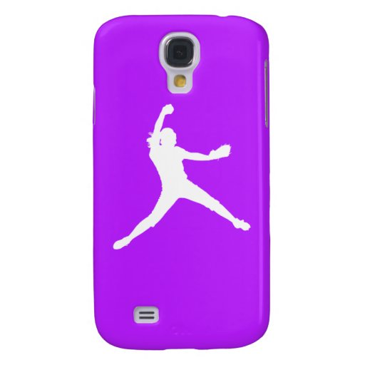 HTC Vivid Fastpitch Silhouette White/Purple HTC Vivid Case