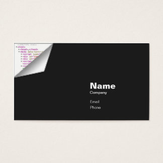 HTML Curl - Indestructible Business Card
