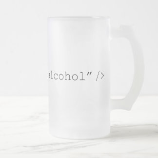 HTML Input Alcohol Frosted Glass Beer Mug