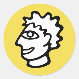 https://www.instagram.com/danny_akh.art/ classic round sticker