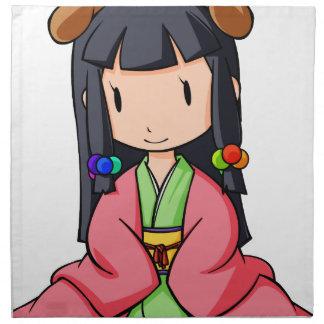 hu - English story Nanso Chiba Yuru-chara Napkin