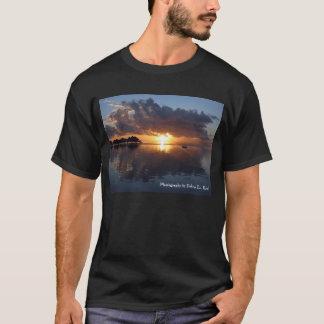 Huahine Sunset Mens Black T-Shirt