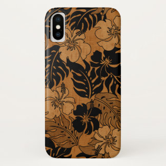 Huakini Bay Hawaiian Hibiscus Vintage Faux Wood Case-Mate iPhone Case