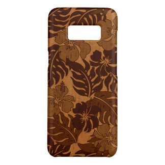Huakini Bay Hawaiian Hibiscus Vintage Faux Wood Case-Mate Samsung Galaxy S8 Case