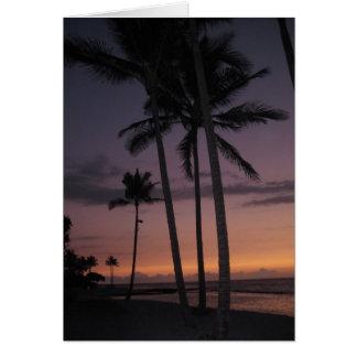 Hualalei Hawaiian Tropical Sunset Card