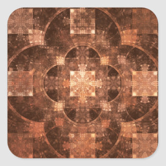 Hub Flame Fractal Square Sticker
