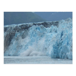 Hubbard Glacier crashes into the Gulf of Alaska Postcard
