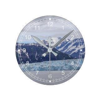 Hubbard Glacier Round Clock