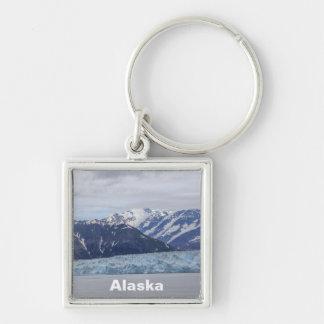 Hubbard Glacier Silver-Colored Square Keychain
