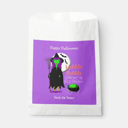 Hubble Bubble Witches Spell Spooky Halloween Favour Bag
