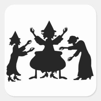 Hubble Bubble Witches Square Sticker
