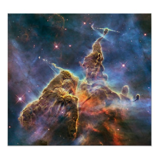 Hubble Captures View of 'Mystic Mountain' Poster
