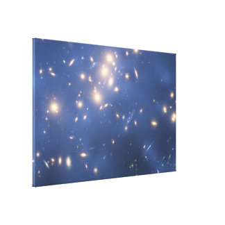 Hubble Finds Dark Matter Ring in Galaxy Cluster Gallery Wrapped Canvas