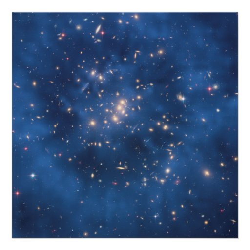 Hubble Finds Dark Matter Ring in Galaxy Cluster Poster