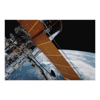 Hubble in Earth's Orbit Poster