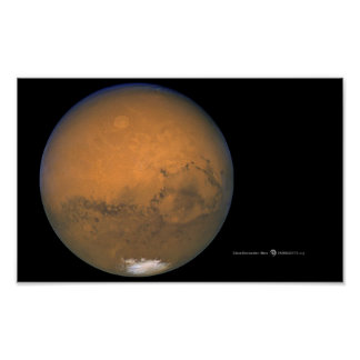 Hubble Photo Of Mars Poster