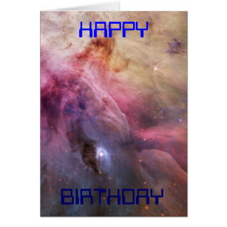 Hubble photo: The Crab Nebula. Birthday card