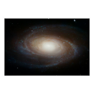 Hubble Photographs Grand Design Spiral Galaxy M81 Poster
